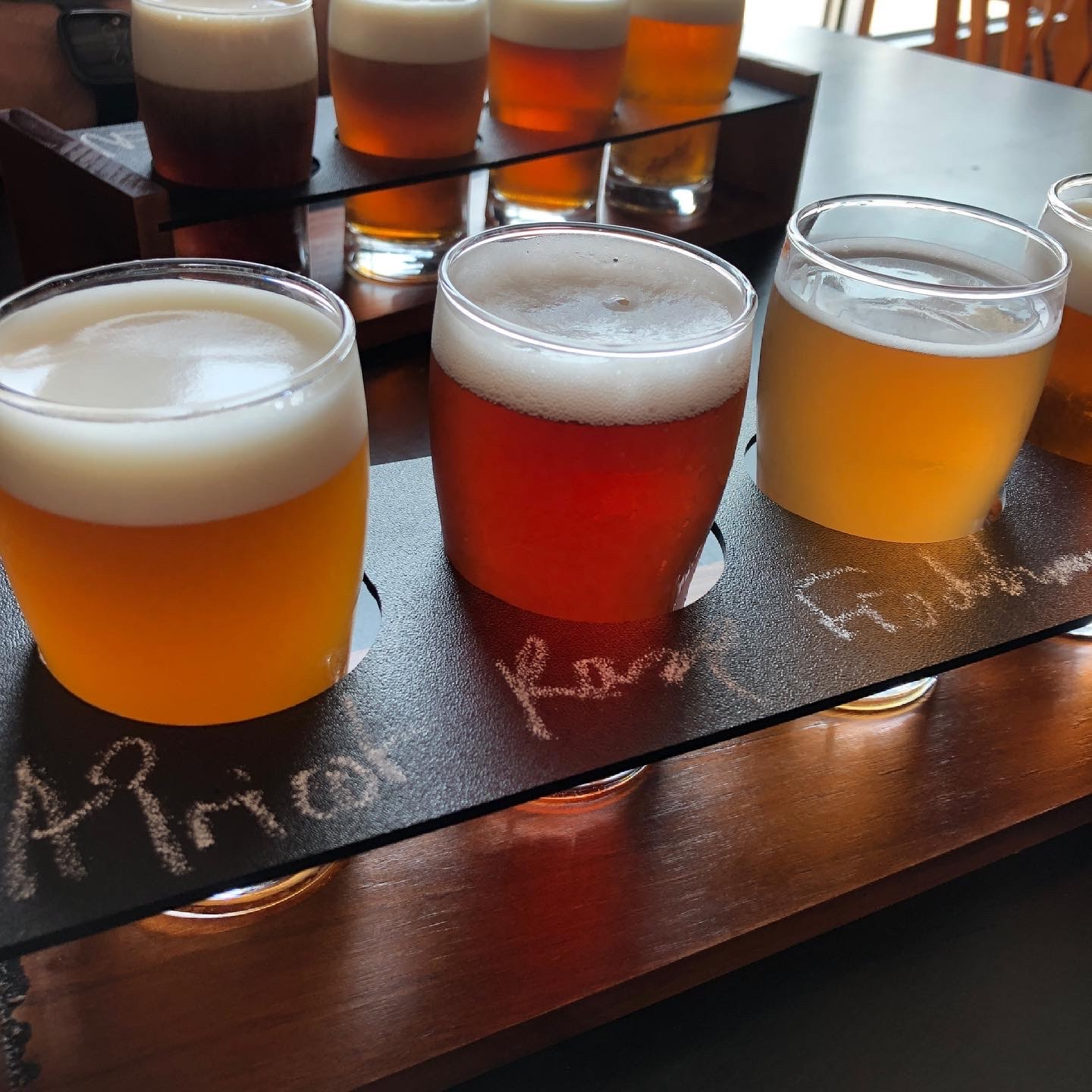 image showing a flight of four beer