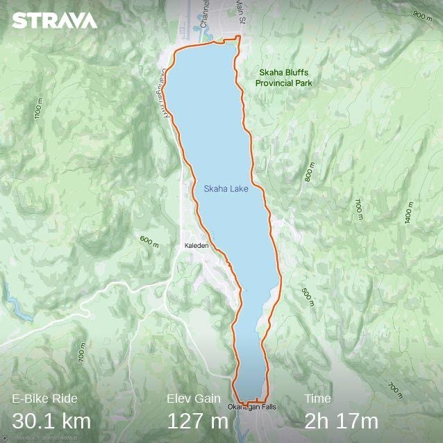 strava map showing the full loop
